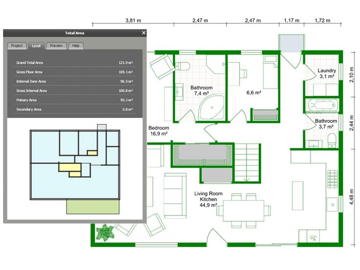 167 best images about real estate floor plans on pinterest for Floor area calculator