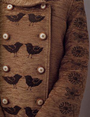 mina perhonen: Birds Coats, Flowers Prints, Kids Fashion, Buttons, I Am A Butterfly, Kids Clothing, Perhonen Mines, Brown Hue, Inspiration Clothing