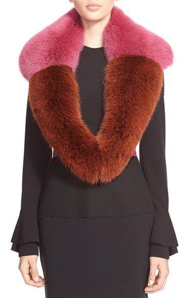 Roksanda Genuine Shadow Fox Fur Collar