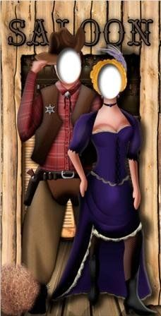 photo booth prop western cut out stand up