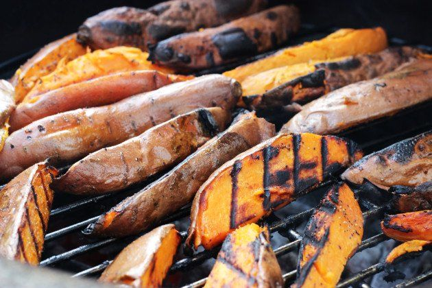 Grilled Sweet Potatoes from Food Fanatic