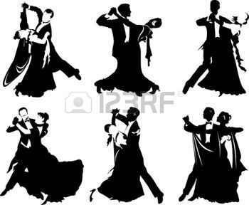 Silhouettes of People Walzer tanzen