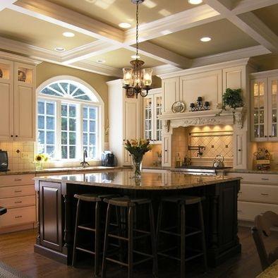 Black Kitchen Island Design: Beautiful Kitchens, Kitchens Design, Dreams Kitchens, Window, Dreams House, Kitchens Ideas, Kitchens Islands, Dreamkitchen, Big Islands