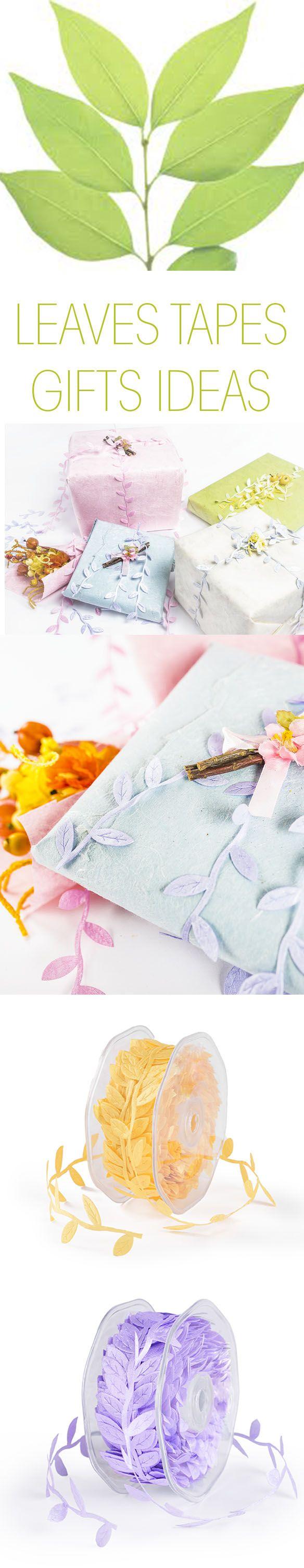 Il Nastro Foglioline è un nastro decorativo elegante ed ornamentale per decorare pacchetti e regali con un tocco di originalità e di classe.