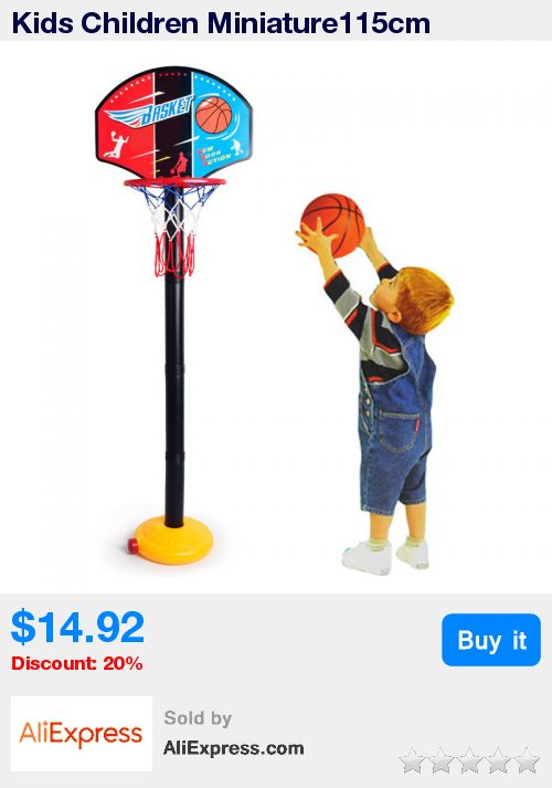 Kids Children Miniature115cm Basketball Hoops Set Stands Adjustable with Inflator Toys Outdoor Fun & Sports BM88 * Pub Date: 14:13 Apr 12 2017