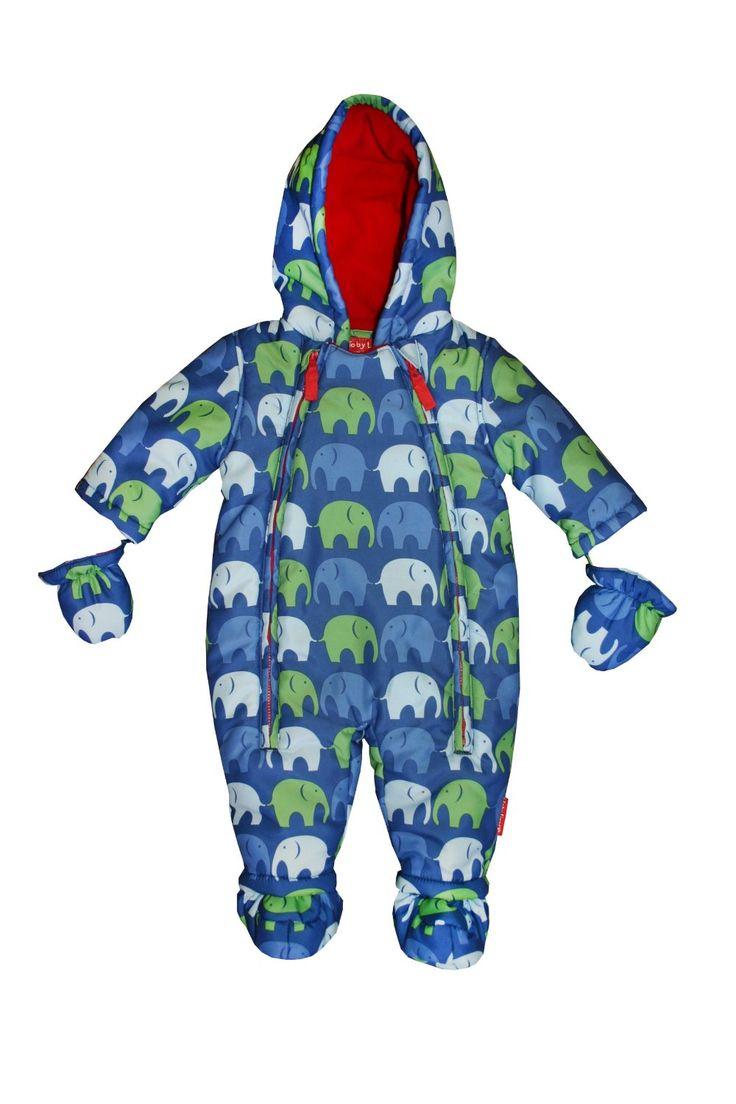 TobyTiger Baby Schneeanzug Elefant blau: Amazon.de: Bekleidung