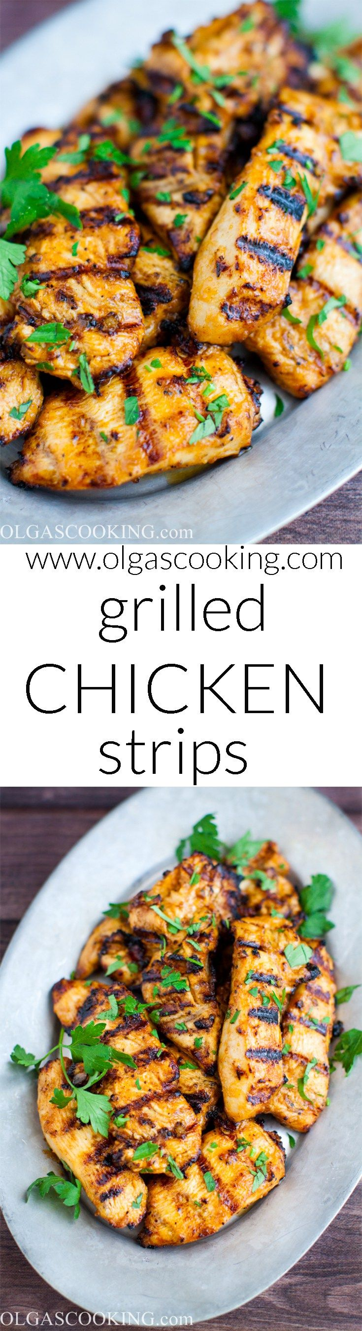 Quick and Juicy! Grilled Chicken Strips