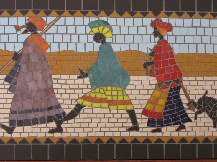 Denise Robinson, Mosaic artist. #mosaicart #mosaic
