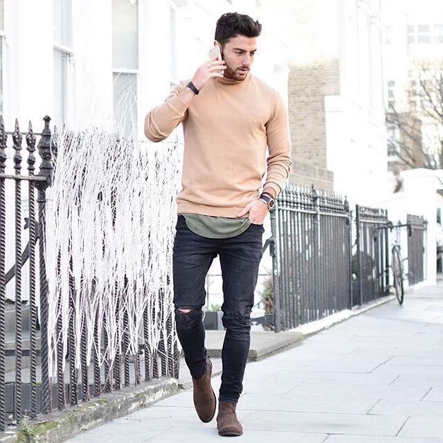 Saturday gent   Mens outfits, Mens fashion, Brown suede chelsea boots