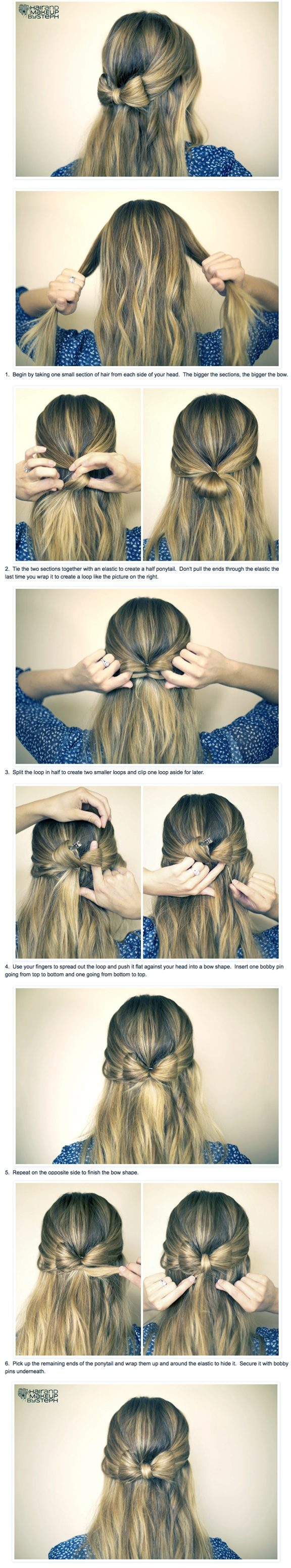 How To: Hair Bow-I like this for the hair coloring.