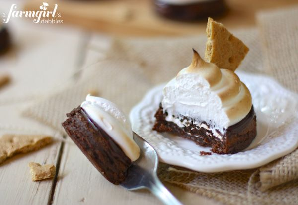 Fudgy S'more Brownies with Toasted Marshmallow Meringue