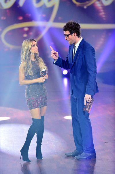 Sylvie Meis and Daniel Hartwich moderate the fith show of the television competition 'Stepping Out' on October 9, 2015 in Cologne, Germany.