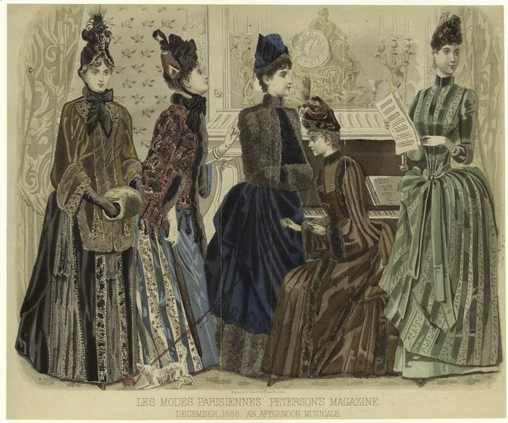 An Afternoon Musicale. From New York Public Library Digital Collections.