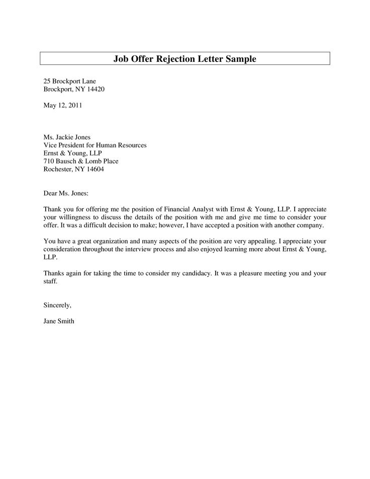 12+ How to write a rejection letter to a job applicant inspirations