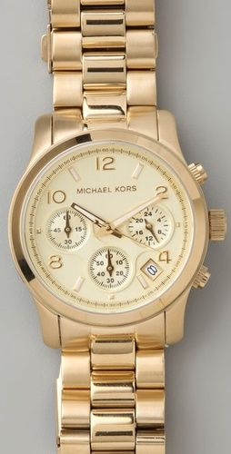 Mine is obviously much cheaper but you get the idea. Michael Kors gold watch♥✤ | Keep the Glamour | BeStayBeautiful