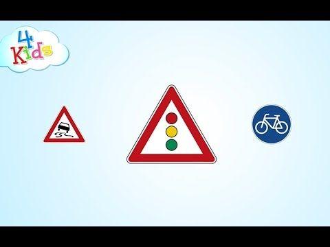 Verkehrszeichen und Schilder im Straßenverkehr lernen für Kinder Teil2 (deutsch) - YouTube