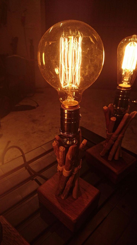 Popular Tischlampen Edle Tischlampe veredelt mit Schwemmholz ein Designerst ck von Pipestyle bei DaWanda