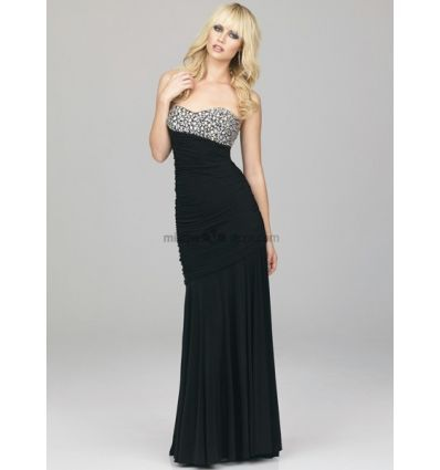 Abito da sera lungo nero per capodanno - Evening dress floor lenght perfect as new years eve outfit