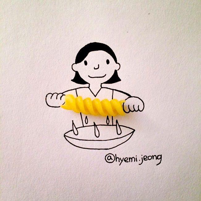 Die aus Korea stammende Hyemi Jeong hat Ihre Zelte mittlerweile im kanadischen Toronto aufgeschlagen, um sich dort Ihrem Studium der Technik- und Ingenieurwissenschaften zu widmen. In Ihrer Freizeit lebet die junge Dame ihre künstlerische Seite in Form kleiner Illustrationen aus, welche sie um Gegenstände des alltäglichen Bedarfs entwirft. Neben Teebeuteln, Zahnbürsten, Pflastern, Haarspangen oder Q-tips kommen bei Jeong auch Lebensmittel... Weiterlesen