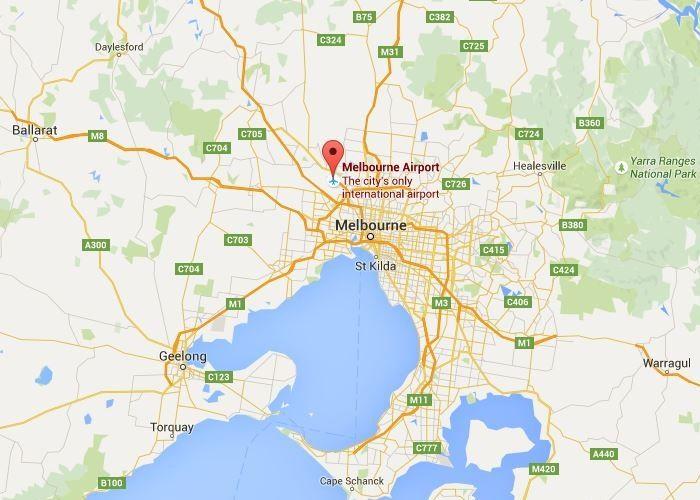 melbourne airport to albury wodonga map - photo#20