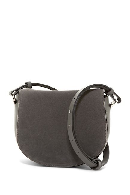 Image of French Connection Silvia Suede Saddle Bag