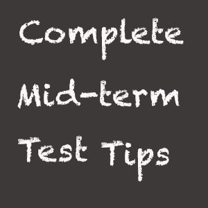 Purple and Pearls : Mid-Term Test Tips