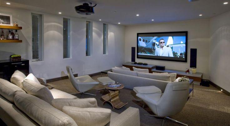 It includes a built-in home theatre.  (McClean Design)