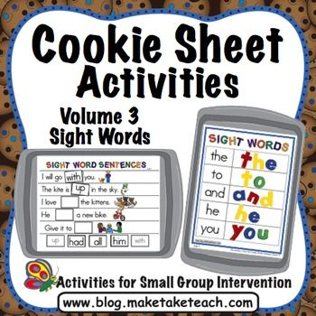 How much fun can you have with magnetic letters and a cookie sheet? Your students will love learning sight words with this popular cookie sheet activity! Cookie Sheet Activities Volume 3 contains 3 sight word activities designed to be used during small group instruction or as activities within your literacy centers.