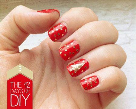 Easy Christmas Nail Art Designs & Ideas 2013/ 2014 | X mas Nails | Fabulous Nail Art Designs