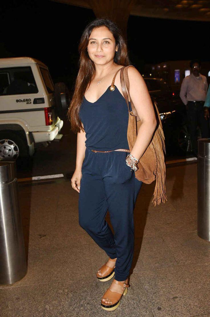 bollywoodmirchitadka: Rani Mukerji Snapped at Mumbai Airport