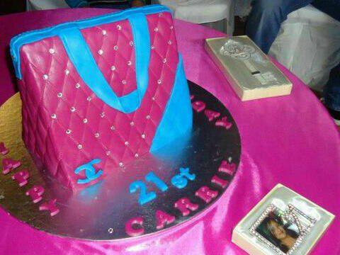 3d chanel handbag cake