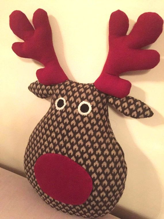Deer stuffed animal  christmas gift for kids soft toy
