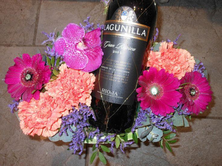 Vinflaske i dekorasjon