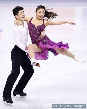 Alex and Maia Shibutani at the 2014 U.S. Olympic Figure Skating Championships. Love this sister and brother team---so cute!
