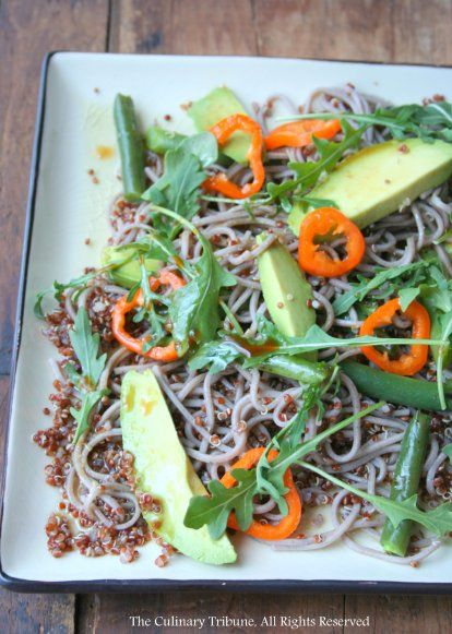 Quinoa Soba Salad with Wasabi Dressing