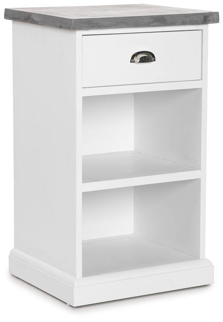 Köp NÄS Sängbord trä vit.topp betongkomposit - Stort utbud hos EM.com
