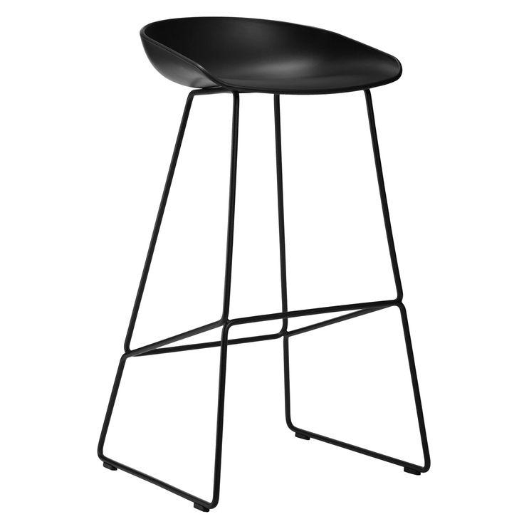 About a Stool Sled barstol h65, svart/svart – Hay – Kjøp møbler online på ROOM21.no