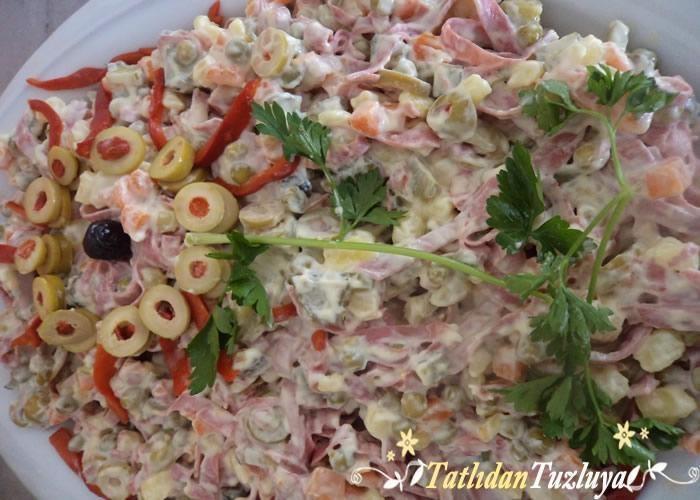 sebzeli italyan salatası