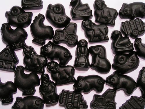 The Netherlands are the no. 1 producer of salty liquorice candies called…