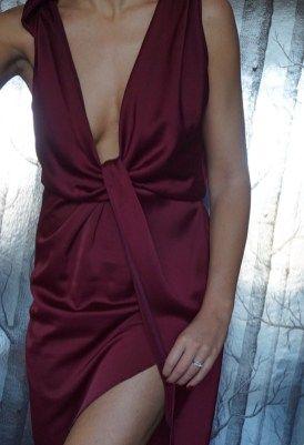 ASOS #jewellery #earrings #lilyandrose #asos #dress #red #oxblood #evening #blacktie