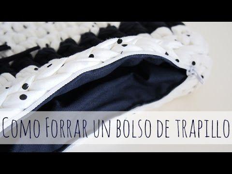 Cómo forrar un bolso de trapillo - YouTube