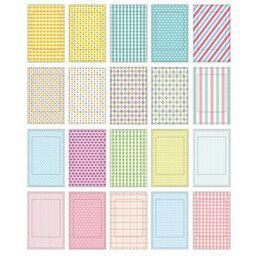 20 Pcs/Lot DIY Scrapbook Paper Photo Sticker Albums Decorative Photos Frame Stickers For Instax Mini Film Home Decor