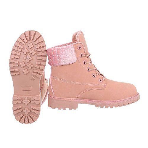Zapatos para mujer Botas Tacón ancho Botines con cordones Ital-Design   Amazon.es  Zapatos y complementos  4f98e6cedeb8