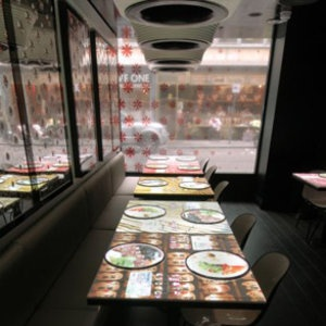 Inamo (London) uses an interactive ordering system. Diners place orders from an illustrated food and drinks menu projected on to their table surface.