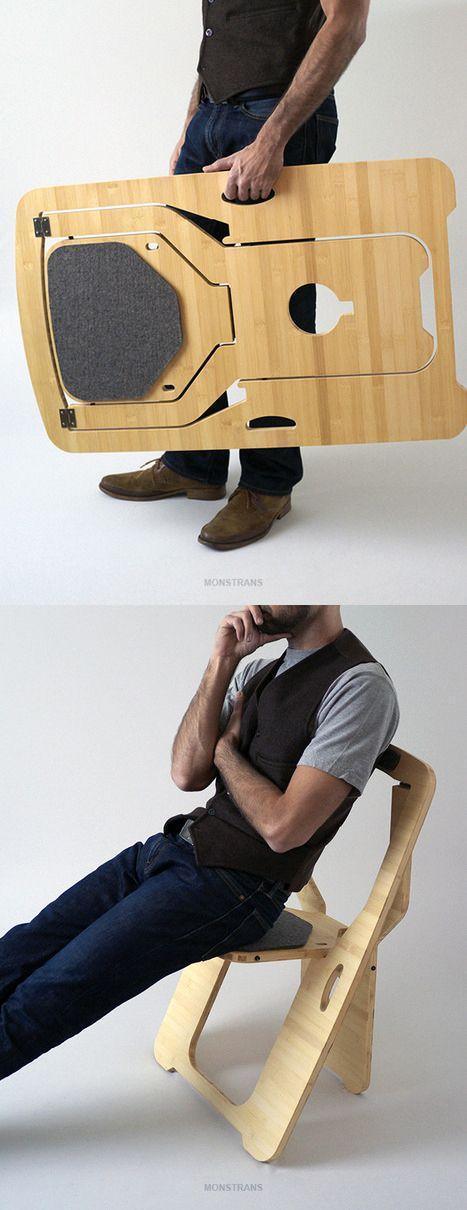 Folding chair, by Leo Salom.