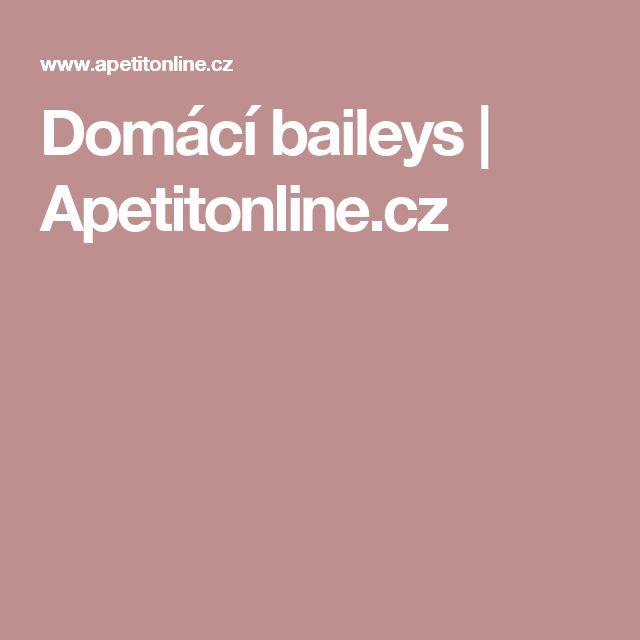 Domácí baileys   Apetitonline.cz