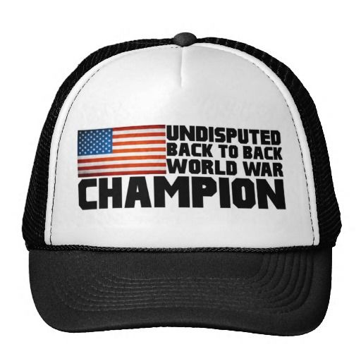 Undisputed world war champions hat