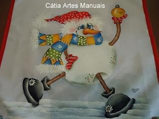 Catia Artes Manuais: Catia Handicrafts, Pinturas Natal, Paint, Fabric, Photo