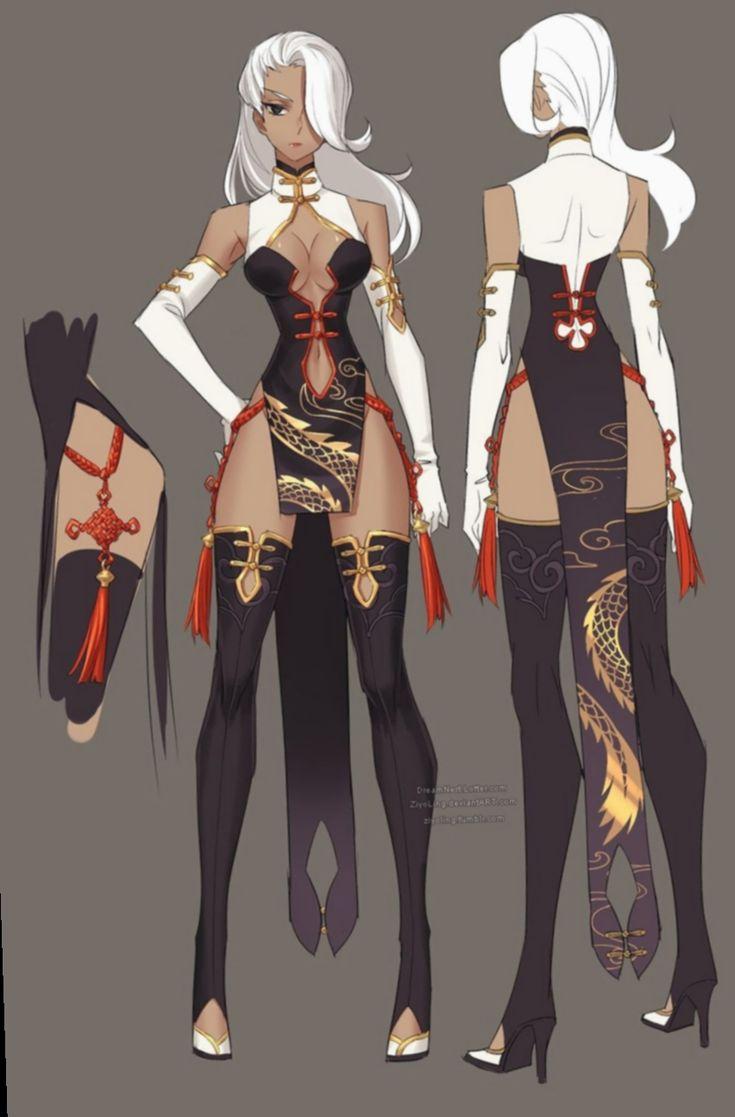 8 anime outfits fantasy female anime kleidung manga