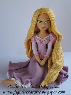 Figurice za torte (Fondant design Ana): ZLATOKOSA - FIGURICA ZA TORTU (RAPUNZEL DISNEY PRINCESS - FONDANT FIGURE)